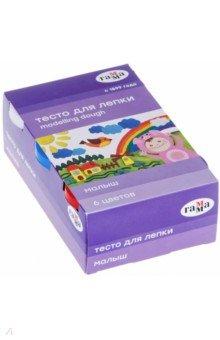 Купить Тесто для лепки 6 цветов Малыш (509193), Гамма, Лепим из пасты, теста