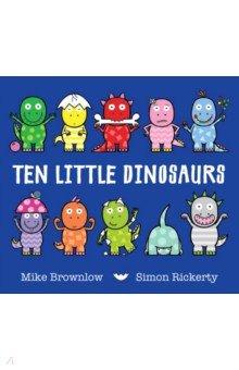 Купить Ten Little Dinosaurs, Hodder, Первые книги малыша на английском языке