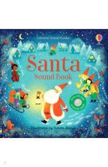 Купить Santa Sound Book, Usborne, Первые книги малыша на английском языке