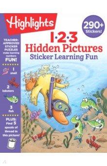 Купить 123 Hidden Pictures. Sticker Learning Fun, RH USA, Книги для детского досуга на английском языке