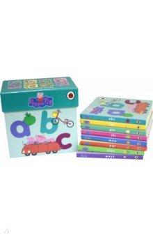 Купить Peppa Pig Peppa's Alphabet Box. 8 alphabet books, Ladybird, Первые книги малыша на английском языке