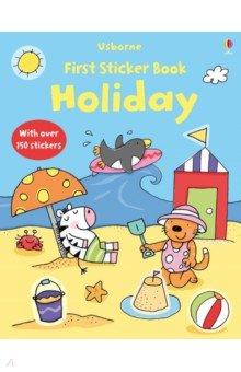 Купить First Sticker Book Holiday, Usborne, Книги для детского досуга на английском языке