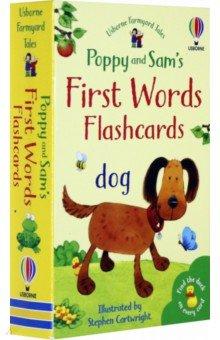 Купить Poppy and Sam's First Words Flashcards, Usborne, Книги для детского досуга на английском языке