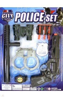 Набор игровой Полиция 10 предметов (338-04), ABtoys, Играем в профессии  - купить со скидкой