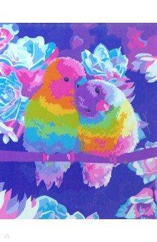 Купить Рисование по дереву 40*50 Влюбленные попугаи (FLA024), Русская живопись, Создаем и раскрашиваем картину