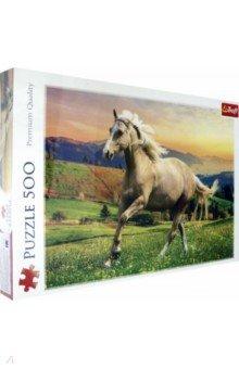Купить Puzzle-500. Лошадь на лугу (37396), Trefl, Пазлы (400-600 элементов)
