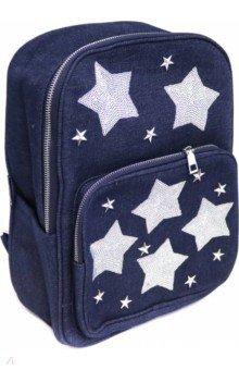 Купить Рюкзак Звезды. Синий , одно отделение, 35х26х12 см. (46669), Феникс+, Рюкзаки школьные
