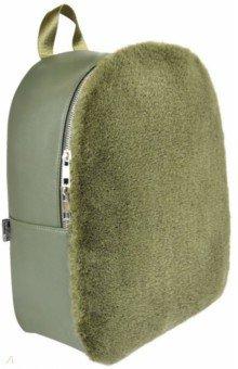 Купить Рюкзак зеленый, искусственная кожа, искусственный мех, одно отделение, 35х26х12 см. (52113), Феникс+, Рюкзаки школьные