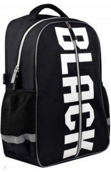 Купить Рюкзак школьный, черный, полиэстер, одно отделение, 34х41х13 см. (53774), Феникс+, Рюкзаки школьные
