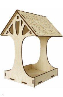 Купить Кормушка №5 (дерево). Набор для самостоятельной сборки (009004консс004), Символик, Сборные 3D модели из дерева неокрашенные мини