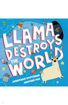 Llama Destroys the World, Puffin, Первые книги малыша на английском языке  - купить со скидкой