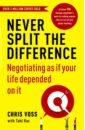 Обложка Never Split the Difference. Negotiating as if Your Life Depended on It
