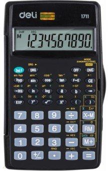 Калькулятор научный, 8+2-разрядный, 56 функций, с крышкой, черный (E1711)