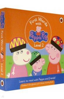 Купить First Words with Peppa. Level 2. Box Set, Ladybird, Первые книги малыша на английском языке