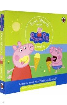 Купить First Words with Peppa. Level 4. Box Set, Ladybird, Первые книги малыша на английском языке