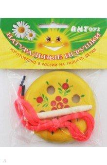 Пуговица-шнуровка (4 дырки) игрушка для животных каскад барабан с колокольчиком 4 х 4 х 4 см