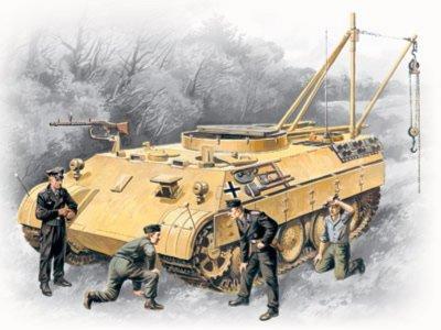 Иллюстрация 1 из 9 для Bergepanther with German Tank Crew (35342) | Лабиринт - игрушки. Источник: Лабиринт