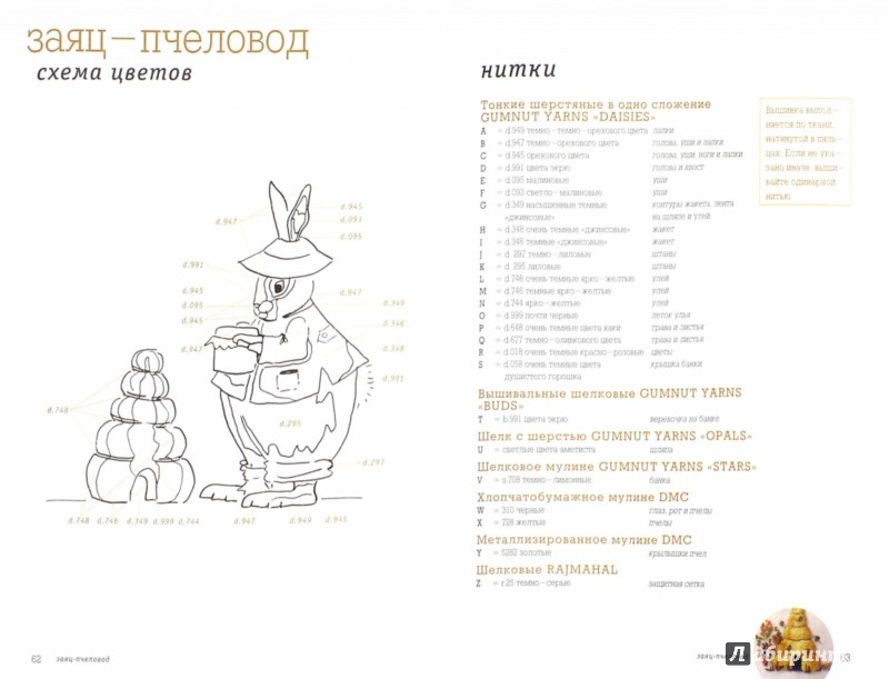 Иллюстрация 1 из 32 для Веселые зайцы. Вышивка - Дженни Мак-Винни | Лабиринт - книги. Источник: Лабиринт