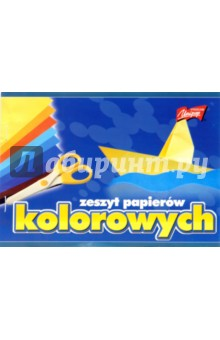 Цветная бумага 10 листов 10 цветов (H-0775)  - купить со скидкой