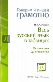 Весь русский язык в таблицах: От фонетики до синтаксиса - Наталья Соловьева