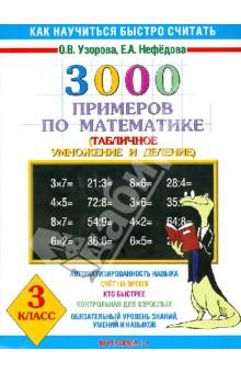 3000 примеров по математике. Табличное умножение и деление - Узорова, Нефедова