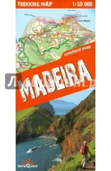Мадейра. Походная карта. Madeira 1:50 000