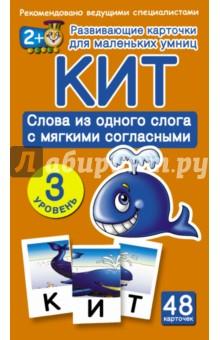 Купить Кит. Слова из одного слога с мягкими согласными. 3 уровень ISBN: 978-5-17-087802-4