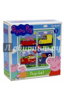 Купить Пазл 4 в 1 Peppa Pig. Транспорт (01597) ISBN: 4680293015972