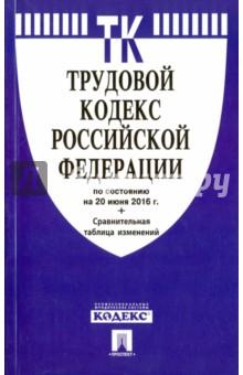Трудовой кодекс Российской Федерации по состоянию на 20.06.16 год