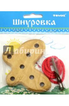 Купить Шнуровка деревянная Бабочка (611-6) ISBN: 4607057563180