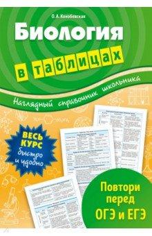 Биология в таблицах - Ольга Конобевская