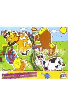 Купить Развивающая игрушка-шнуровка Ферма (66435) ISBN: 6438240664357