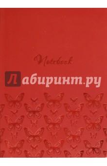 Купить Записная книжка А6+,БАБОЧКИ НА КРАСНОМ,интег,45755 ISBN: 4606008379887