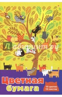 Купить Бумага цветная Мультики (10 листов, 10 цветов, А4, в ассортименте) (82698) ISBN: 4606016184978