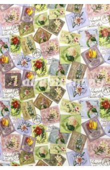 Купить Бумага упаковочная Марки с цветами (100х70 см) (75196)