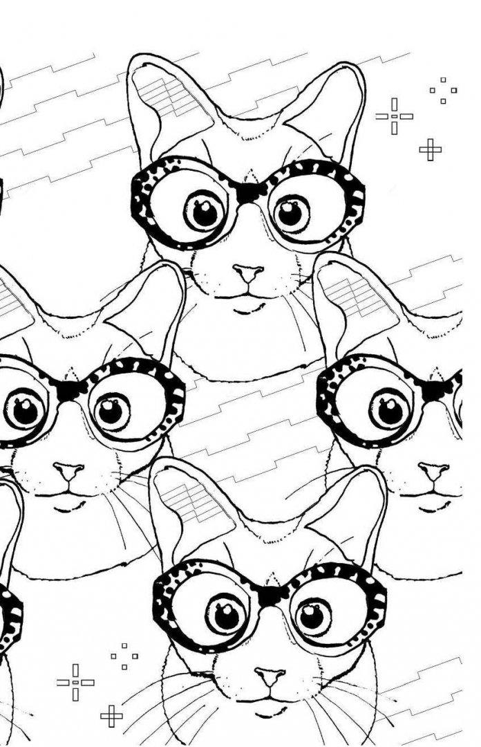 Иллюстрация 9 из 80 для Кототерапия. Мини-раскраска ...