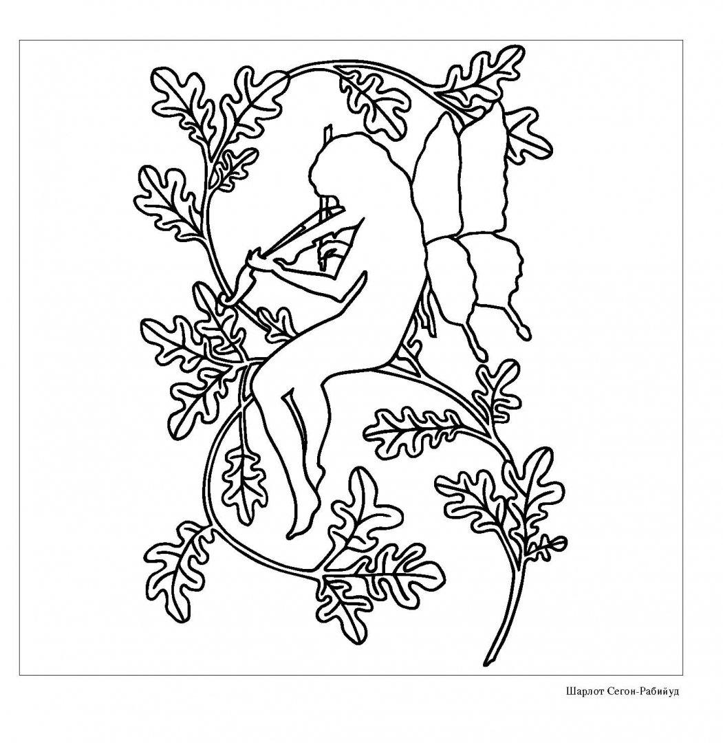 Иллюстрация 7 из 24 для Лесные феи. Раскраска-антистресс ...