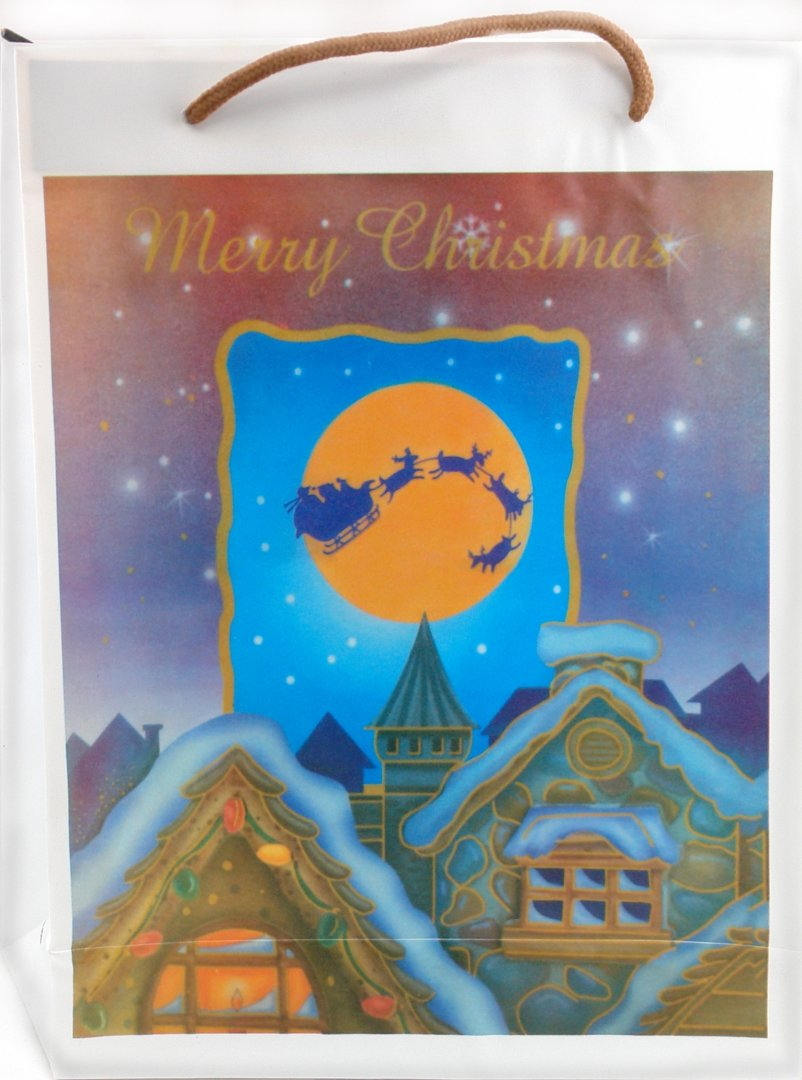 Иллюстрация 1 из 3 для Пакет новогодний пластиковый 30x23x8 (LY070716-4) | Лабиринт - сувениры. Источник: Лабиринт