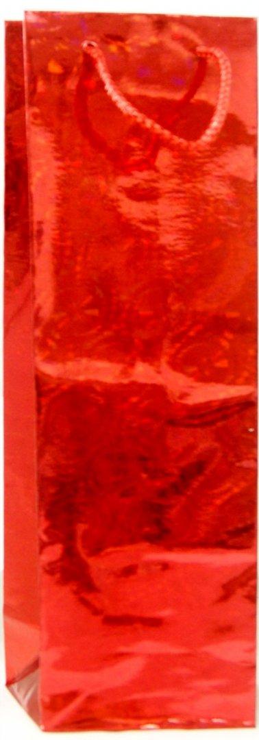 """Иллюстрация 1 из 2 для Пакет бумажный """"Голография красная"""" 34*10*9 см (35582)   Лабиринт - сувениры. Источник: Лабиринт"""