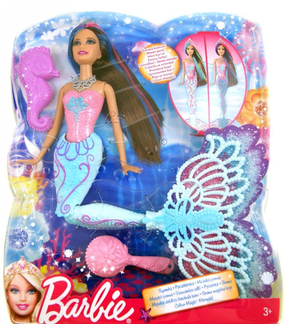 """Иллюстрация 1 из 2 для Кукла """"Барби русалочка"""", меняющая ..."""