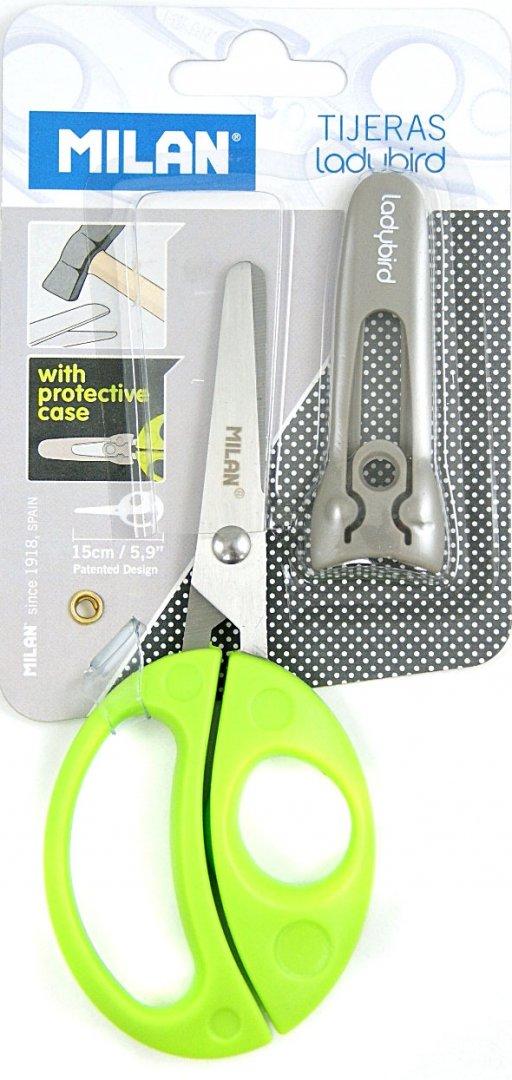 Иллюстрация 1 из 4 для Ножницы детские 150 мм закруглённые с чехлом (BWM10017) | Лабиринт - канцтовы. Источник: Лабиринт