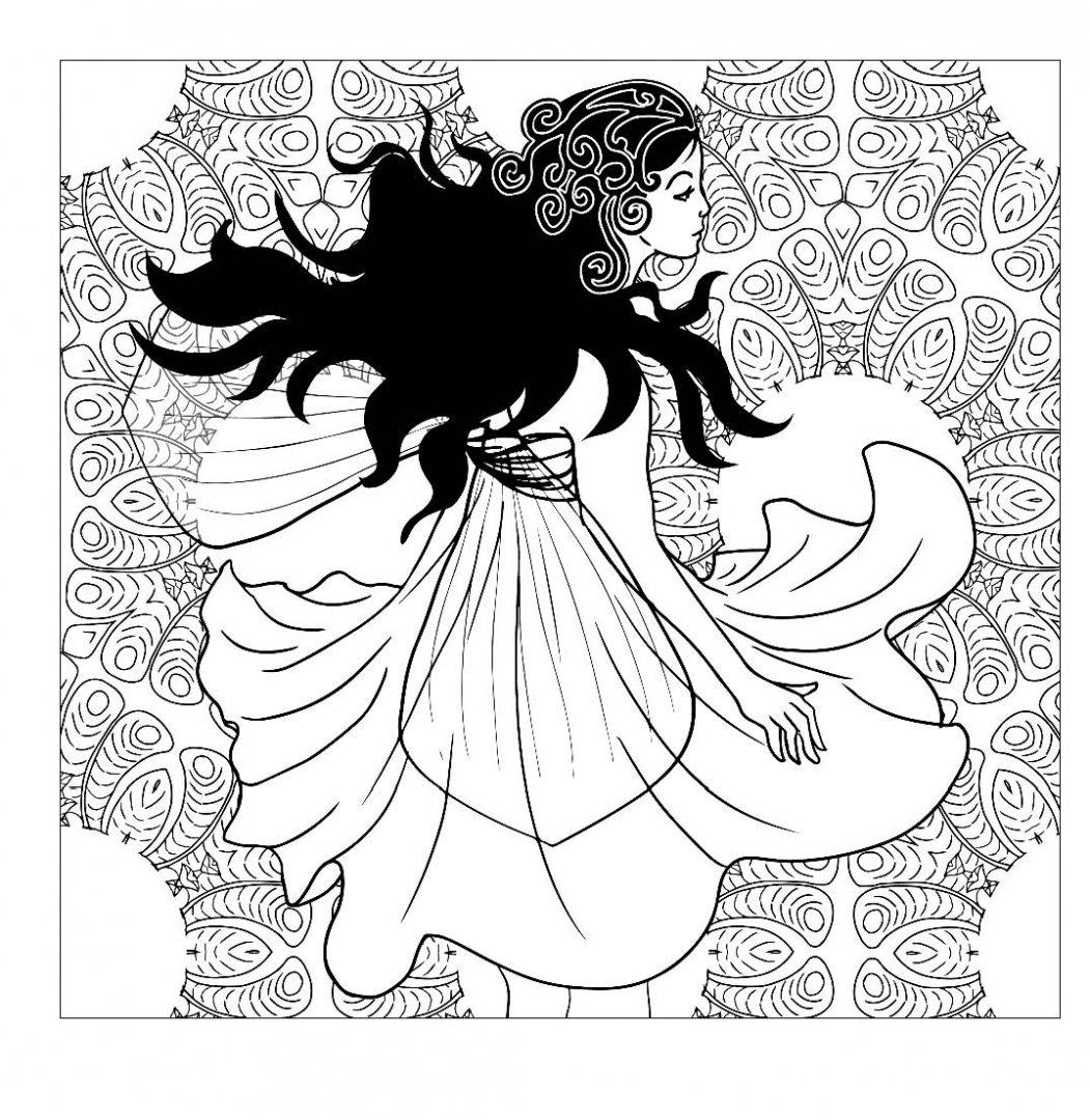 Иллюстрация 8 из 38 для Лесные феи. Раскраска-антистресс ...