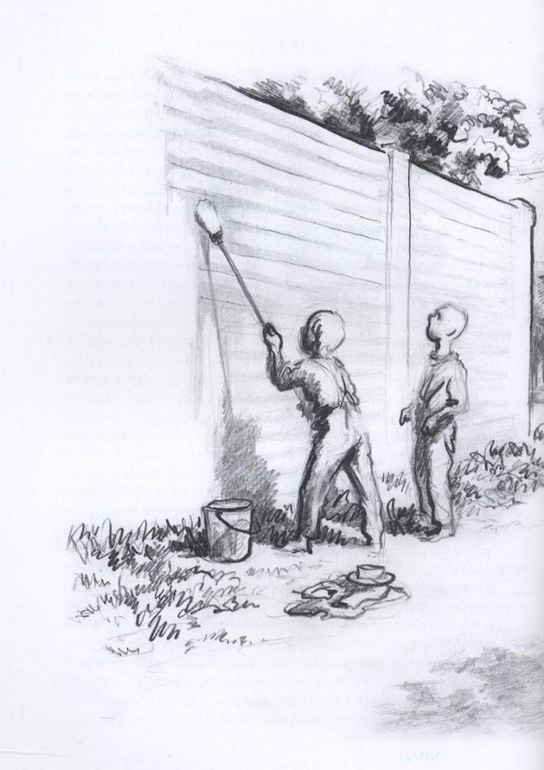 рисунок тома сойера словом должен привлекать