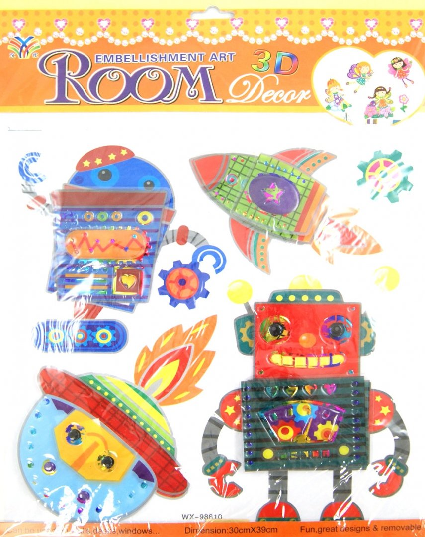 Иллюстрация 1 из 4 для Наклейки декоративные самоклеящиеся 3D (31828) | Лабиринт - игрушки. Источник: Лабиринт