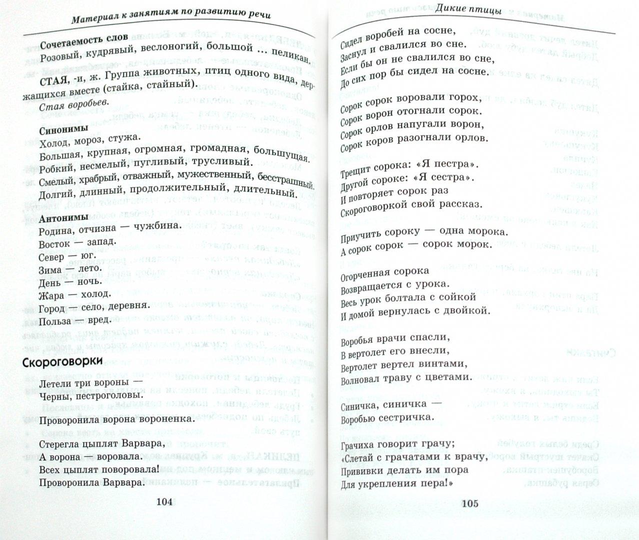 Иллюстрация 1 из 16 для Материал к занятиям по развитию речи. Дикие животные и птицы - Татьяна Подрезова | Лабиринт - книги. Источник: Лабиринт