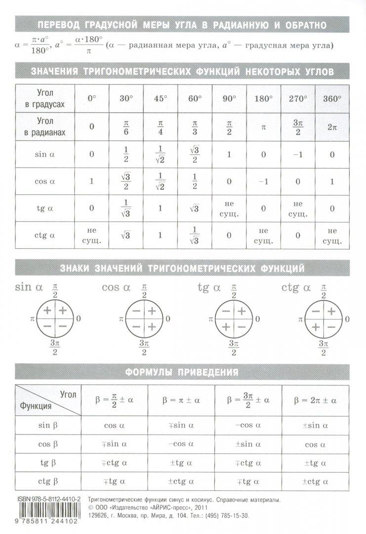 Иллюстрация 1 из 5 для Тригонометрические функции: синус и косинус   Лабиринт - книги. Источник: Лабиринт