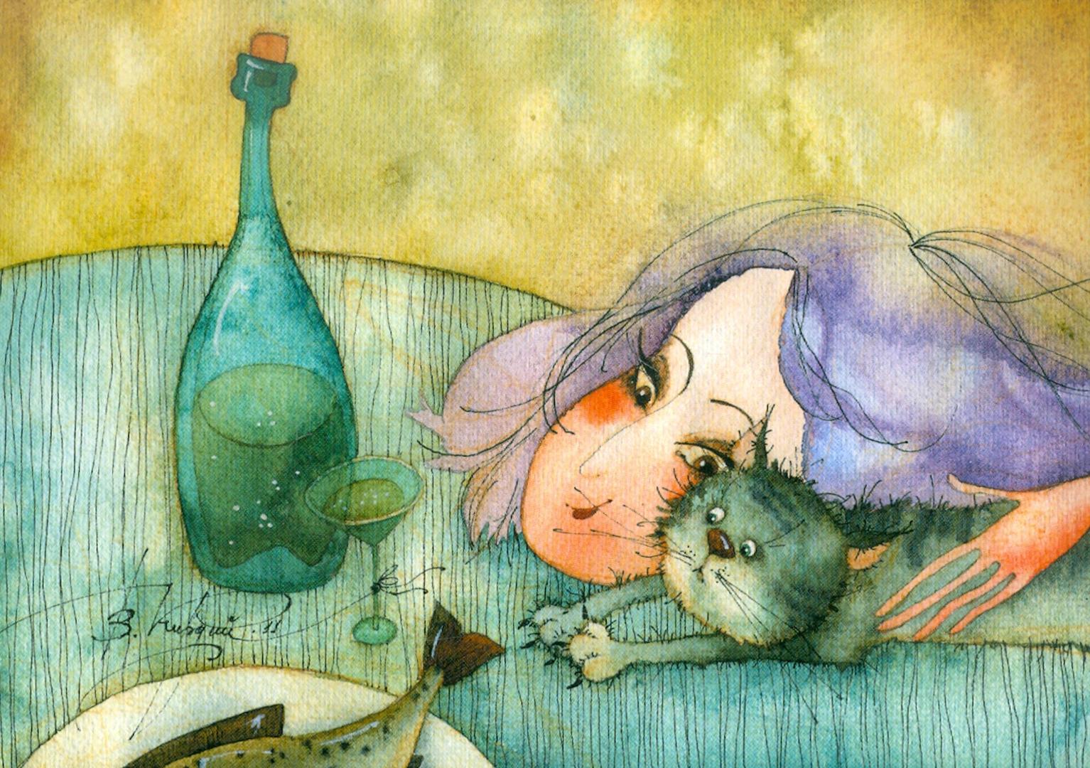 Иллюстрация 1 из 33 для Мурчащее счастье. Набор открыток - Виктория Кирдий | Лабиринт - сувениры. Источник: Лабиринт