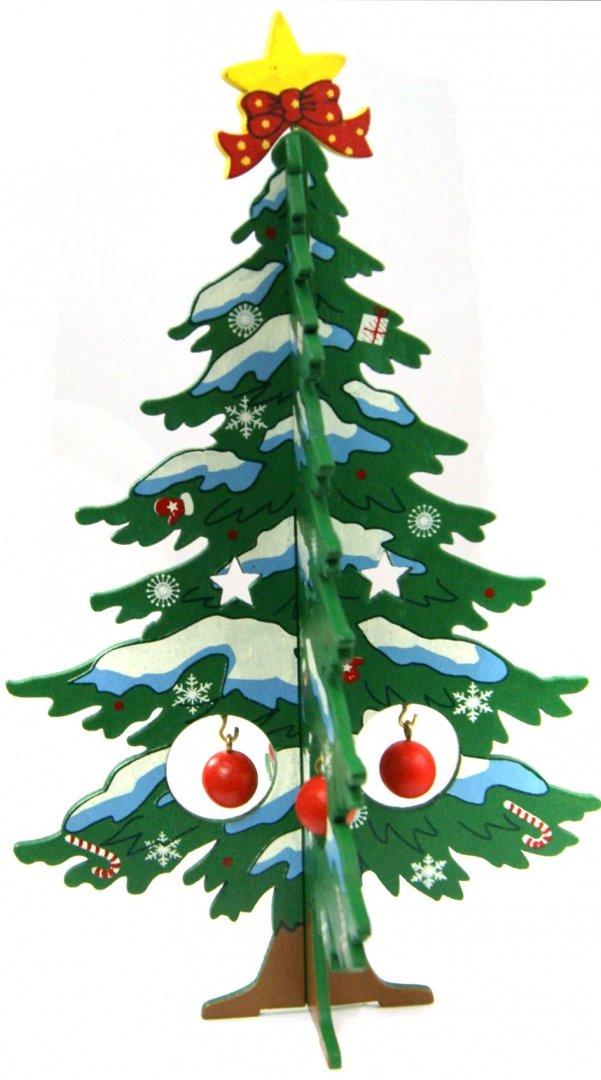 Иллюстрация 1 из 4 для Ель новогодняя из дерева, 17 см (35262)   Лабиринт - сувениры. Источник: Лабиринт