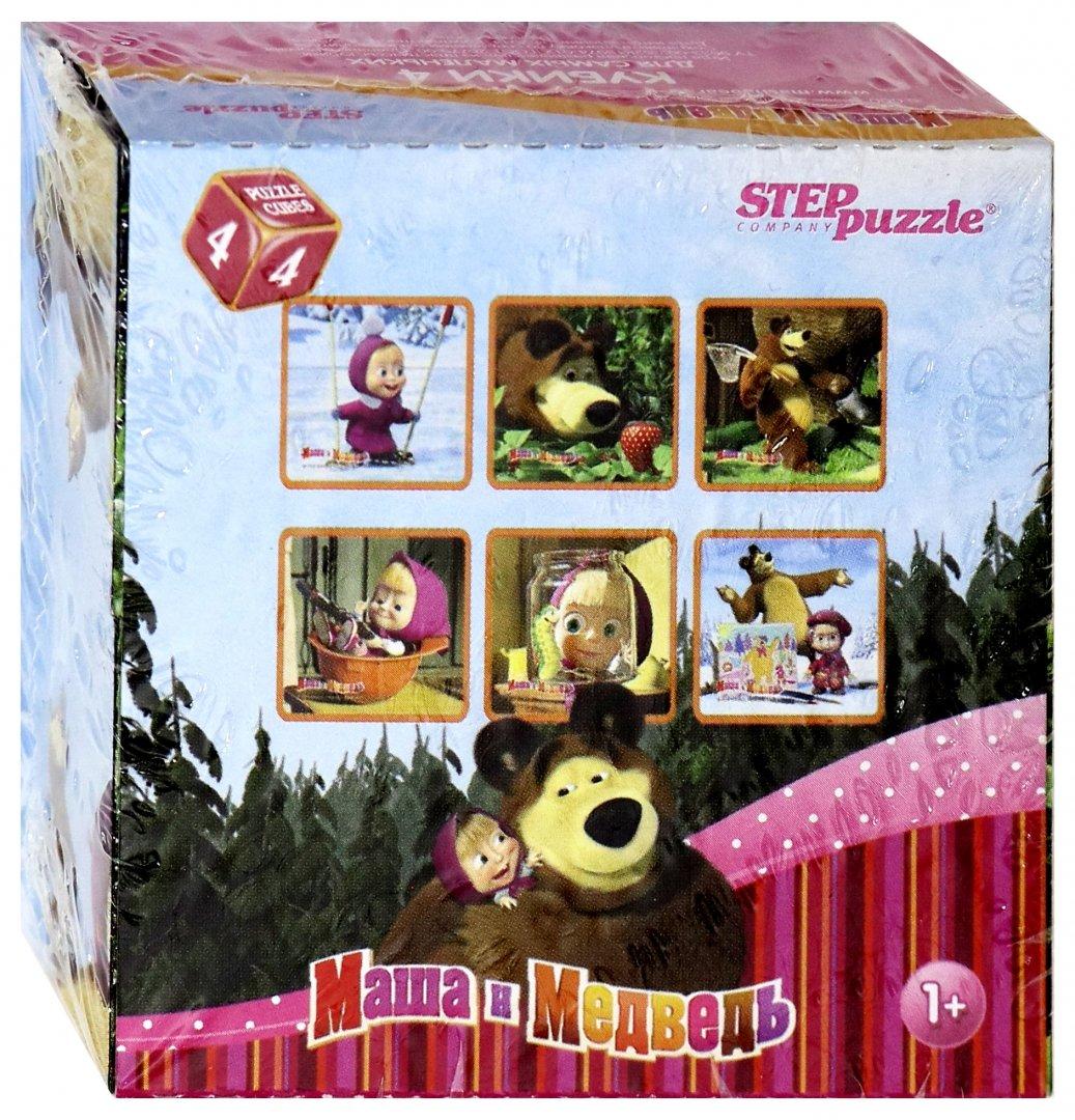 """Иллюстрация 1 из 28 для Кубики для самых маленьких """"Маша и Медведь"""". 4 штуки (87132)   Лабиринт - игрушки. Источник: Лабиринт"""