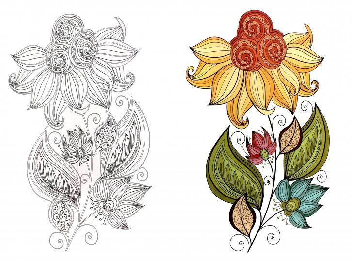 зендудлы узоры и цветы антистресс раскраска для взрослых